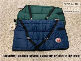Thermal Dog Coats 26 inch & above. Great for large dogs or a small pony - Until sold out.