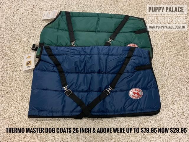 Thermal Dog Coats 26 inch & above. $9.95. [@Name value='Puppy Palace Pet Shop, Brisbane