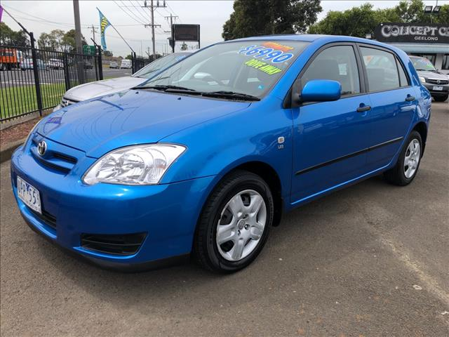 2006 TOYOTA COROLLA ASCENT SECA ZZE122R MY06 UPGRADE 5D HATCHBACK