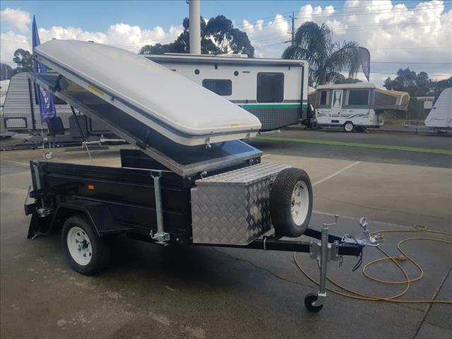New 7x4 Camper Trailer with Roof Top Tent (Base Model)     **ONLY 3 LEFT**