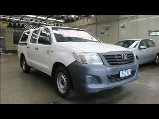 2013 TOYOTA HILUX WORKMATE TGN16R MY12 DUAL CAB P/UP