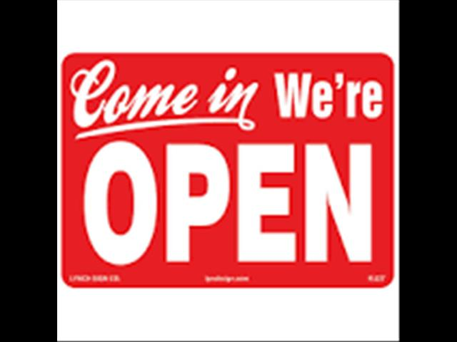 WE ARE OPEN ALL EASTER LONG WEEKEND!!!