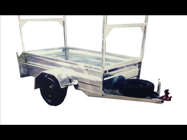 Galvanized Box Trailer with Ladder Racks (Item 93)