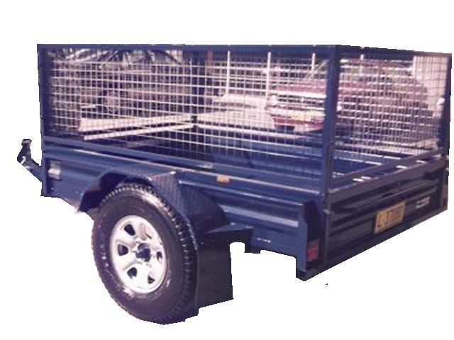 Box Trailer with Cage (Item 12)