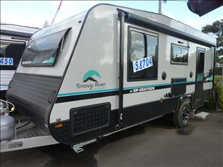 2020 SNOWY RIVER SR18 GREY EXTERIOR SINGLE AXLE CARAVAN ON SALE NOW
