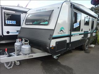2020 SNOWY RIVER SR18 GREY EXTERIOR SINGLE AXLE CARAVAN