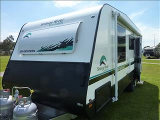 2020 NEW SNOWY RIVER SR18 WHITE SINGLE AXLE CARAVAN