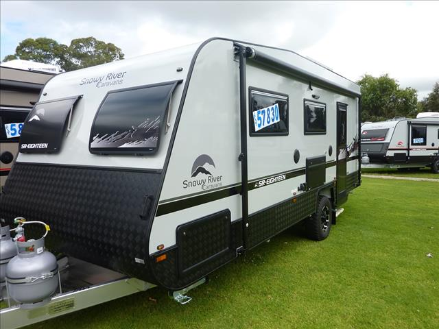 2020 NEW SNOWY RIVER SR18 GREY SINGLE AXLE CARAVAN