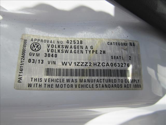 2013 VOLKSWAGEN AMAROK TDI400 (4x4) 2H MY13 C/CHAS
