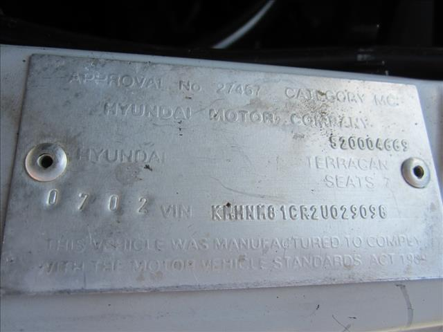 2002 HYUNDAI TERRACAN 4D WAGON