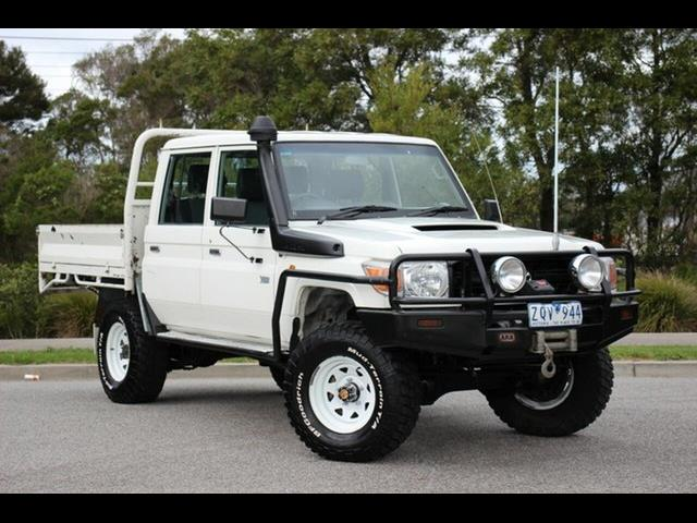 2013 TOYOTA LANDCRUISER WORKMATE (4x4) VDJ79R MY12 UPDATE DOUBLE C/CHAS