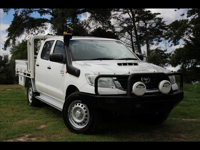 2014 Toyota Hilux SR Double Cab KUN26R MY14 Cab Chassis