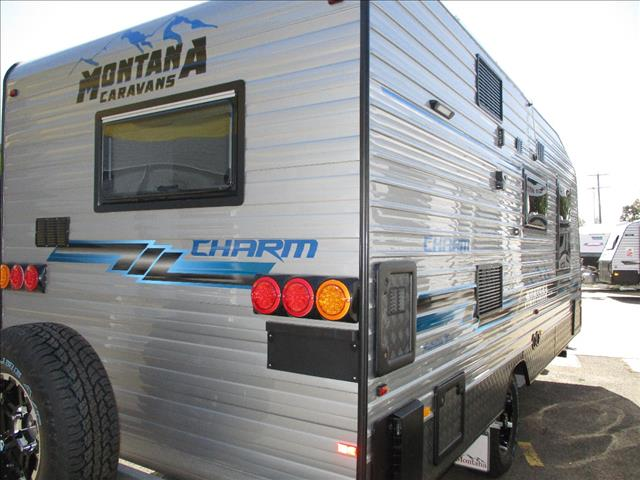 "2019 Montana "" Charm"" 18'6"" Semi Off Road Single Axle Tourer, Queen Bed, Ensuite  &  Washing Machine"