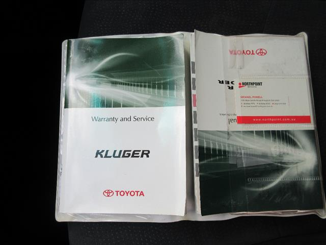 2009 TOYOTA KLUGER ALTITUDE (FWD) GSU40R 4D WAGON