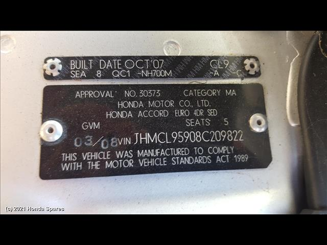 2008 HONDA - ACCORD Heater/Ac Controls
