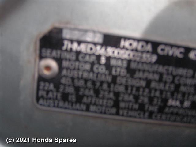 1987 HONDA - CIVIC Front Seat
