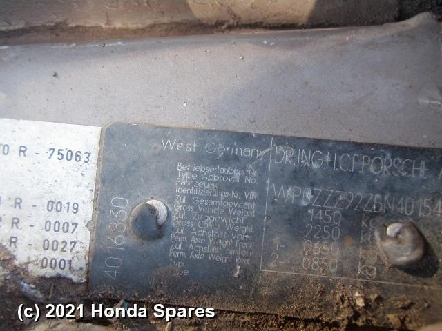 1981 PORSCHE - 924 Ignition W/ Key