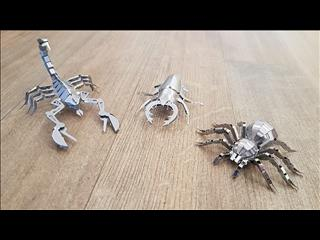 3-d Metal Model Animals. Kit form. FREE Postage. $12 each. Build a stunning 3-d model.