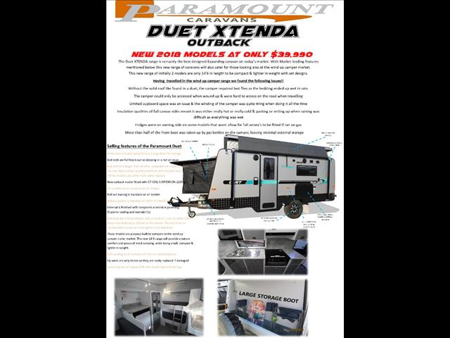 2018 Duet Xtenda pop top semi off road
