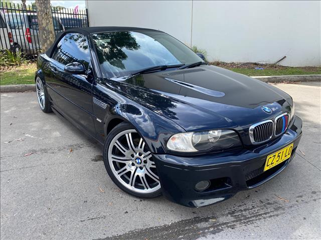 2003 BMW M3 E46 Convertible 2dr SMG 6sp 3.2i  Convertible