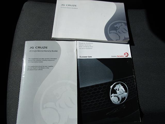 2009 HOLDEN CRUZE CD JG 4D SEDAN