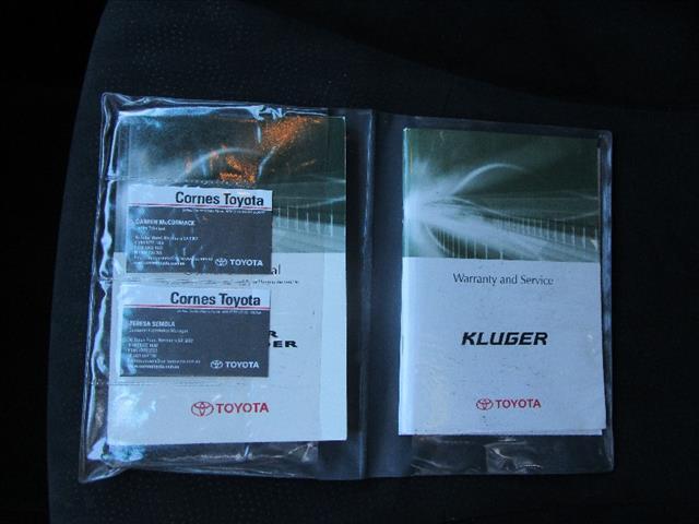 2010 TOYOTA KLUGER KX-R (4x4) 5 SEAT GSU45R 4D WAGON