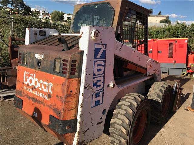Earthmoving Machinery Used Bobcat 763 Skid Steer Loader For Sale In