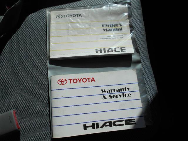 2008 TOYOTA HIACE LWB TRH201R MY07 UPGRADE 4D VAN