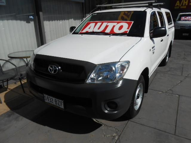 a1a1085426 Used 2010 TOYOTA HILUX WORKMATE TGN16R 09 UPGRADE DUAL CAB PUP for sale in  West Hindmarsh