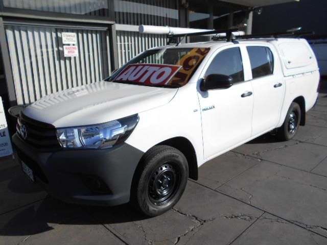 2018 TOYOTA HILUX WORKMATE TGN121R MY19 DOUBLE CAB PUP