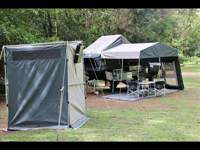 Large 16OZ Canvas Ensuite Bathroom Quick Pop Up Tent