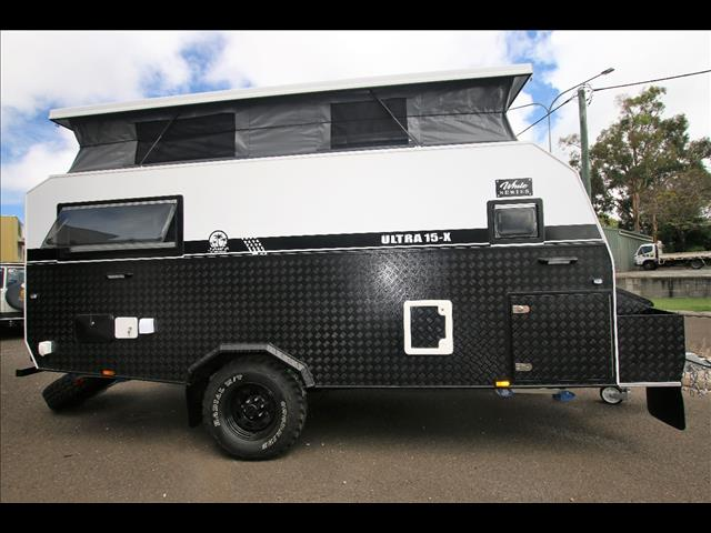 "TRAX15-X ULTRA ""White Series"" Extension JAWA Off-road Hybrid Caravan - Dinnette + 2x Bunk + Ensuite"