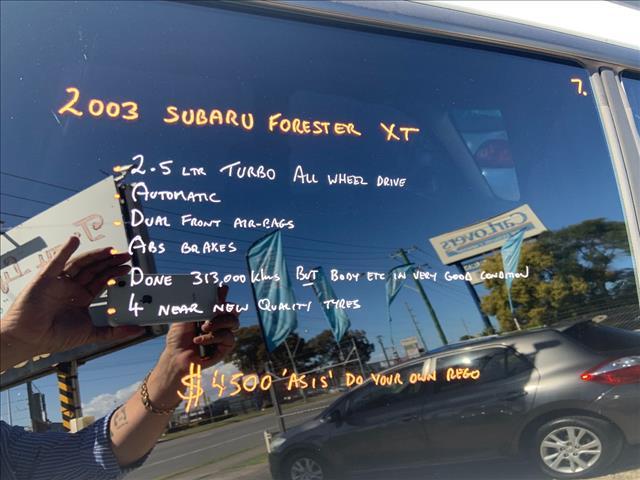 2003 SUBARU FORESTER XT MY04 4D WAGON