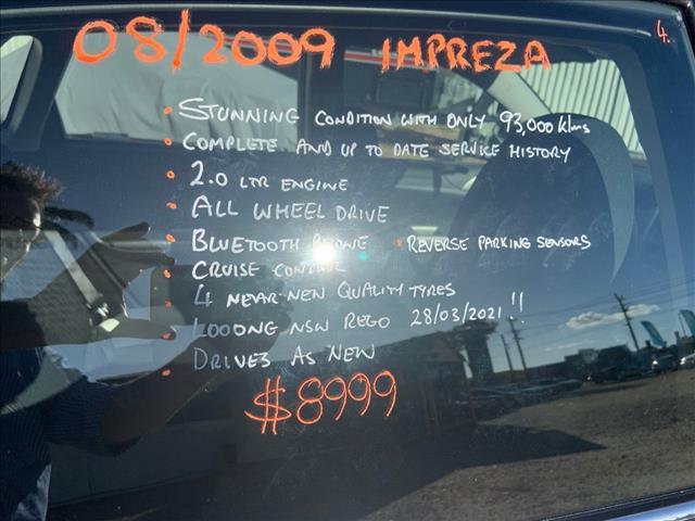 2009 SUBARU IMPREZA R (AWD) MY10 4D SEDAN