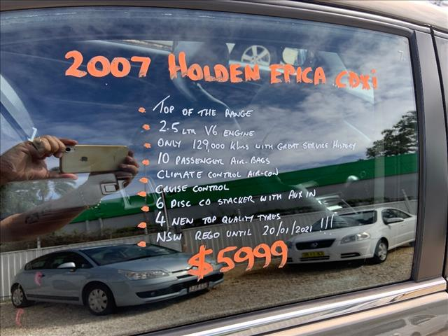 2007 HOLDEN EPICA CDXi EP MY08 4D SEDAN