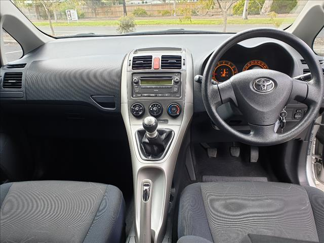 2009 TOYOTA COROLLA ASCENT ZRE152R MY09 5D HATCHBACK